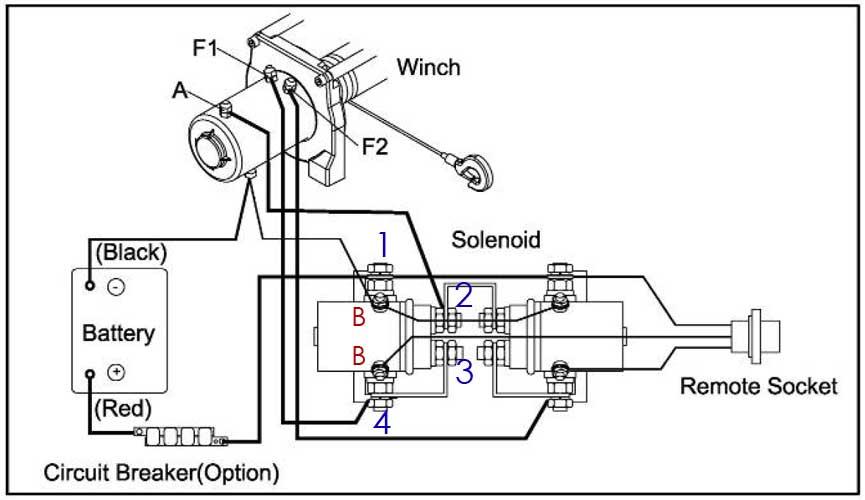 schema relais treuil